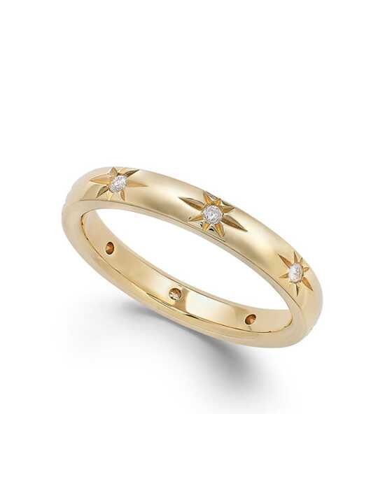 Macy's Fine Jewelry Star by Diamond Star Wedding Band in 18k Gold (1/8 ct. t.w.) Gold Wedding Ring