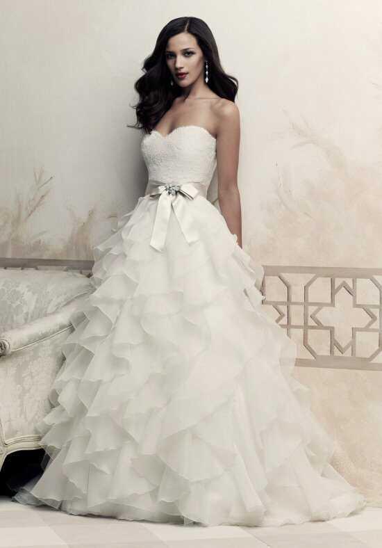 paloma blanca 4363 a line wedding dress