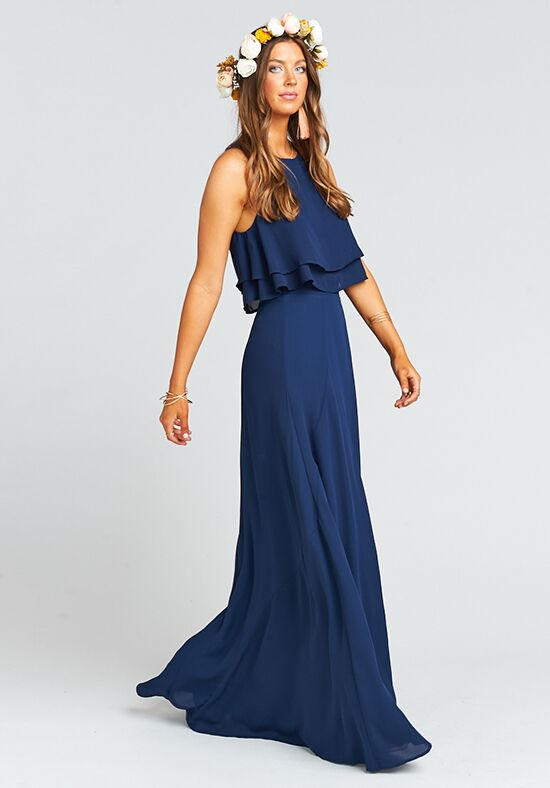 Show Me Your Mumu Princess Di Ballgown - Rich Navy Crisp Square Bridesmaid Dress