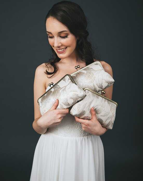 Davie & Chiyo | Clutch Collection Saison Clutch Set Ivory, Champagne Clutches + Handbag