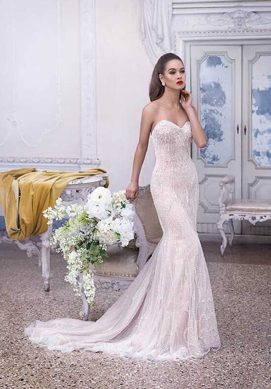 Platinum by Demetrios DP378 - Delphine Sheath Wedding Dress