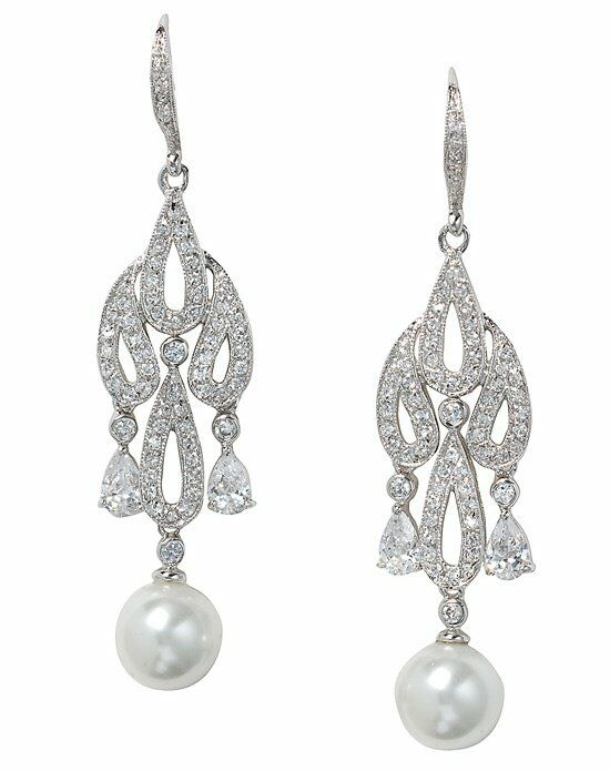 Anna Bellagio Valentina Pearl Chandelier Earring Wedding Earring photo