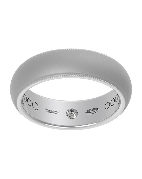 Everband 6 mm Milgrain with Matte Gold, Rose Gold, White Gold, Platinum Wedding Ring