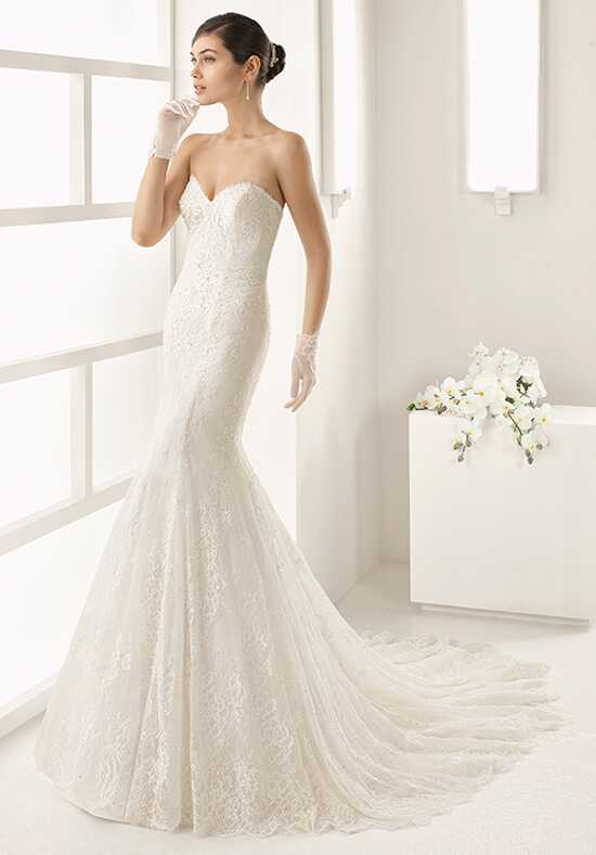 Two by Rosa Clará Oblicuo Mermaid Wedding Dress