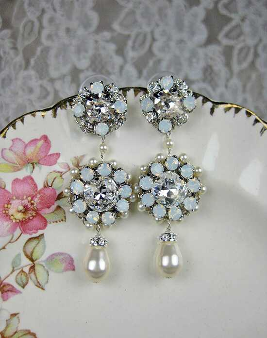 Everything Angelic Jo Chandelier Earrings - e346 white opal Wedding Earring photo