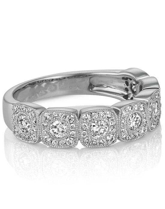 Shane Co. Vintage Diamond Wedding Band With Milgrain Detail White Gold Wedding  Ring