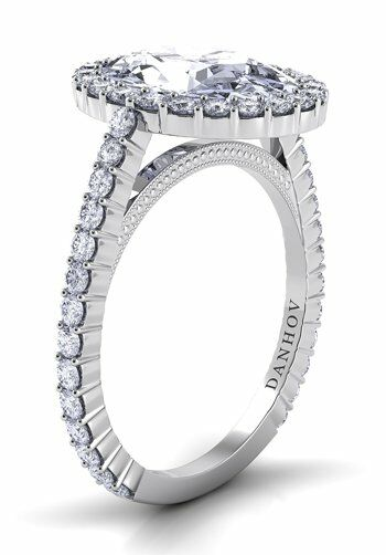 Danhov Carezza White Gold Wedding Ring