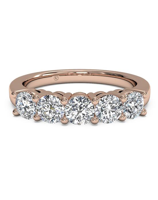 Ritani Women's Five-Stone Diamond Wedding Band - in 18kt Rose Gold (0.75 CTW) Rose Gold Wedding Ring