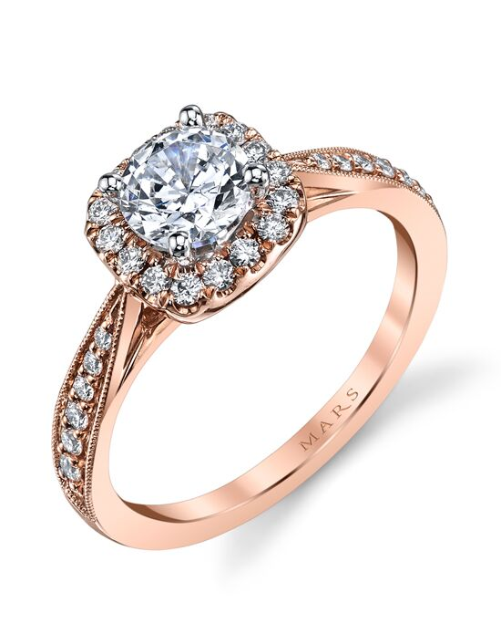 MARS Fine Jewelry Classic Round Cut Engagement Ring
