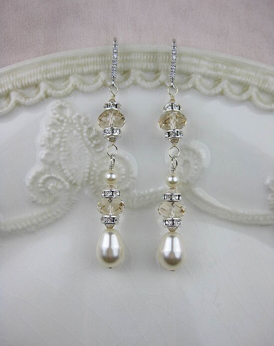 Everything Angelic Ingrid Earrings - e316 Lt Silk Wedding Earring photo
