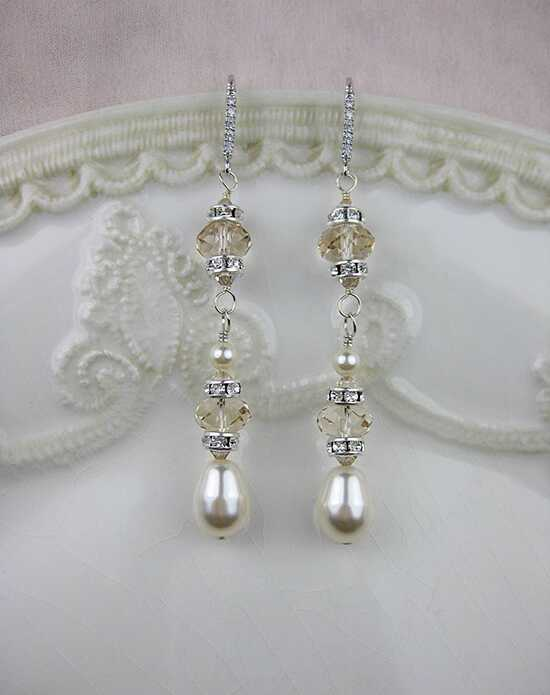 Everything Angelic Ingrid Earrings - e316 Lt Silk Wedding Earrings photo