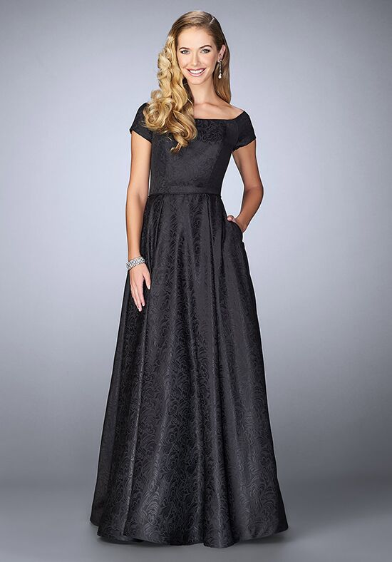 La Femme Evening 24859 Black Mother Of The Bride Dress