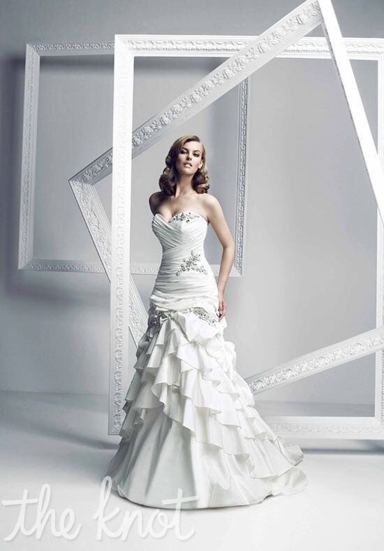 Simone Carvalli 7135 A-Line Wedding Dress
