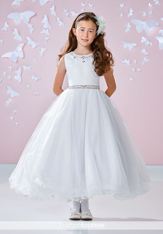 Joan Calabrese by Mon Cheri 117344 Ivory Flower Girl Dress