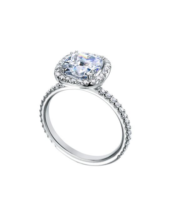 "Say ""Yes!"" in Platinum Classic Cushion Cut Engagement Ring"