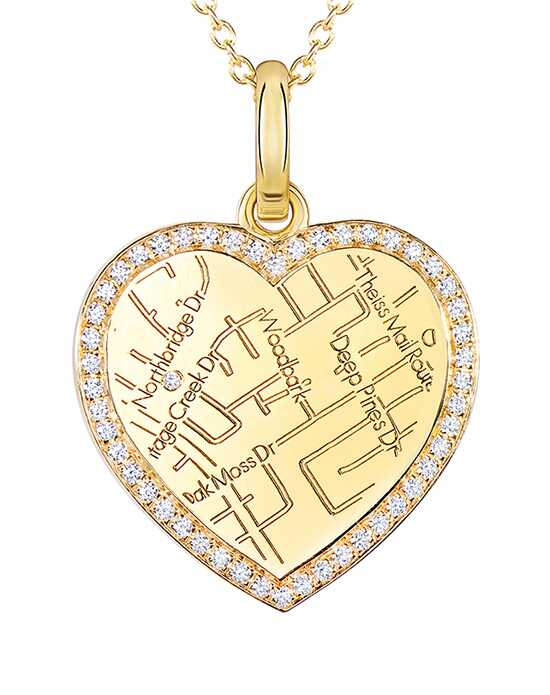 A.JAFFE Maps MAPP012 Wedding Necklace photo