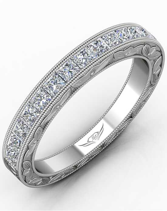 FlyerFit by Martin Flyer VC03WBQ-AENG-C White Gold Wedding Ring