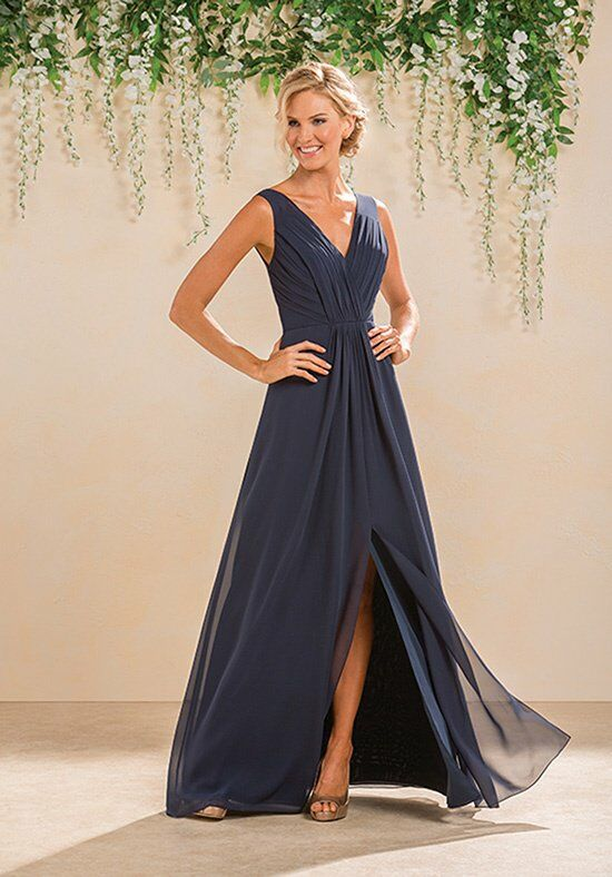B2 by Jasmine B183012 V-Neck Bridesmaid Dress