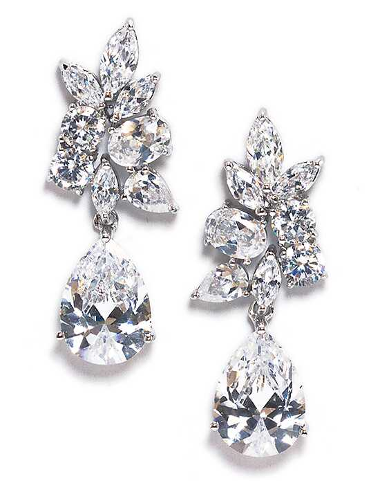 Anna Bellagio KRISTA FLORAL INSPIRED CUBIC ZIRCONIA EARRING Wedding Earring photo