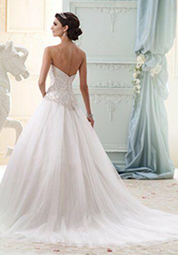 David Tutera For Mon Cheri 215273 - Velvet Wedding Dress - The Knot