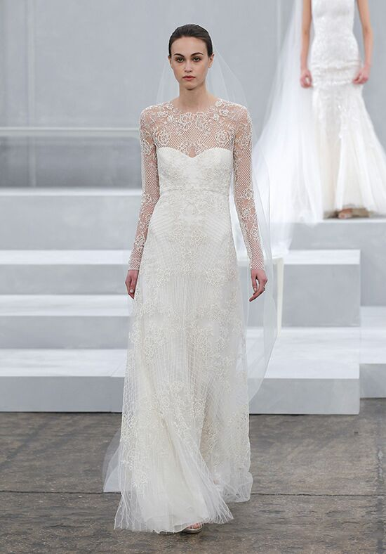 Monique Lhuillier Sarah Sheath Wedding Dress
