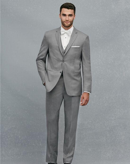 A Bank 2 On Notch Lapel Gray Suit Tuxedo