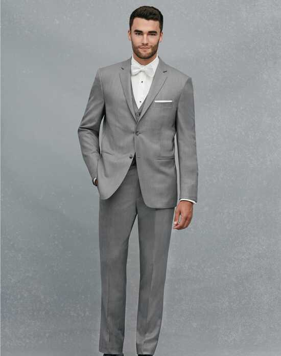 Jos. A. Bank 2-Button Notch Lapel Gray Suit Gray Tuxedo