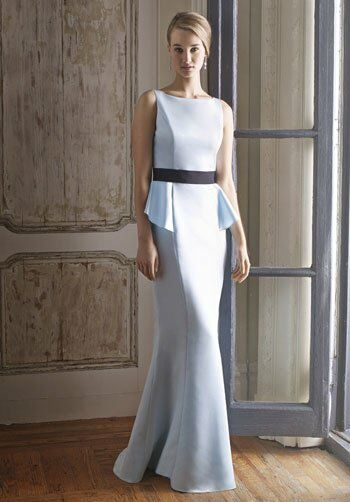Badgley Mischka BM12 Bateau Bridesmaid Dress