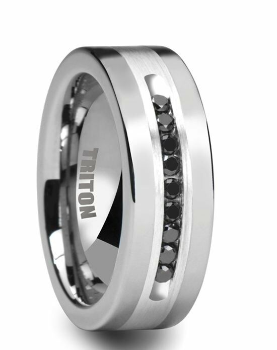 tungsten burgess pin inlay diamonds white band rings bands with wedding triton silver and by