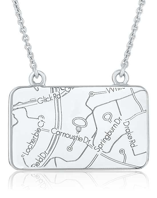 A.JAFFE Maps MAPN002 Wedding Necklace photo