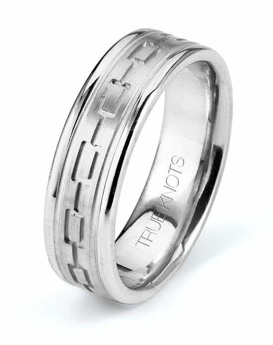 TRUE KNOTS True Man - 578DCW Palladium, Platinum, White Gold Wedding Ring