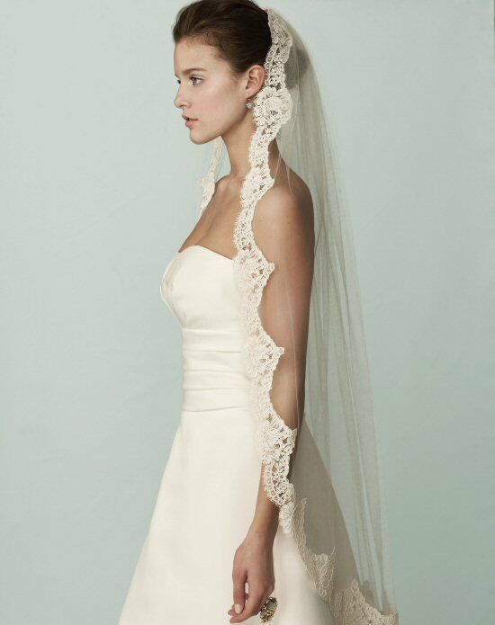 Mikaella by Paloma Blanca Veils Collection VM408F Ivory Veil