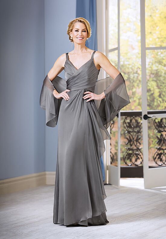 Jade J185054 Silver Mother Of The Bride Dress