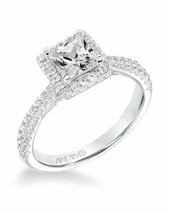 ArtCarved 31-V668ECW-E Engagement Ring photo