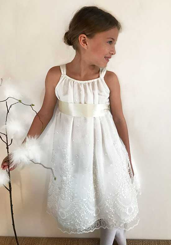 Isabel Garretón Romantic Ivory Flower Girl Dress
