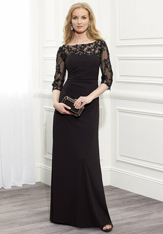 Val Stefani Celebrations MB7364 Black Mother Of The Bride Dress