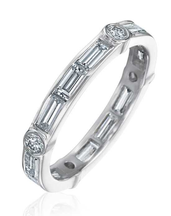"Say ""I do!"" in Platinum Gumuchian Women's Wedding Band-R845P Platinum Wedding Ring"