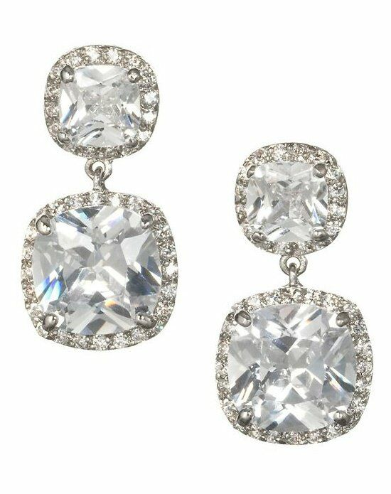 Anna Bellagio DORIA CUSHION CUT BRIDAL DROP EARRING Wedding Earring photo