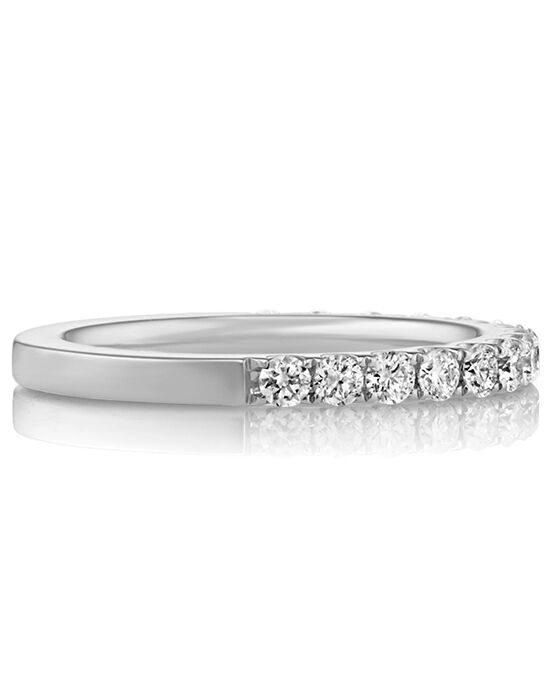 Pavé Set Diamond Wedding Band White Gold Ring