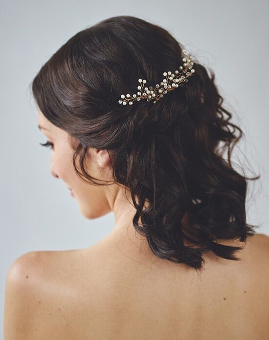 Davie & Chiyo | Hair Accessories & Veils Aurae Hair Wreath Gold, Silver Pins, Combs + Clip