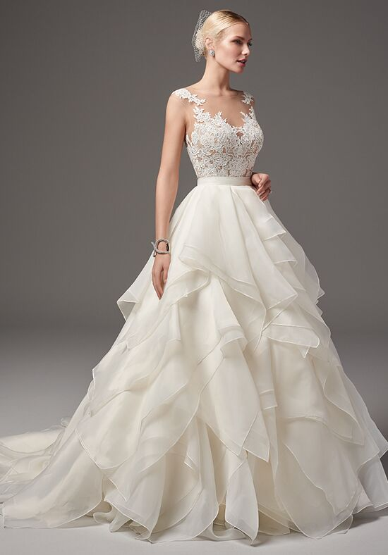 Sottero and midgley tristan bodysuit with blythe skirt for Wedding dress bodysuit and skirt