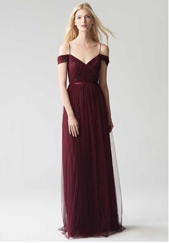 Jenny Yoo Collection (Maids) Lyla {Cabernet} #1759 Off the Shoulder Bridesmaid Dress