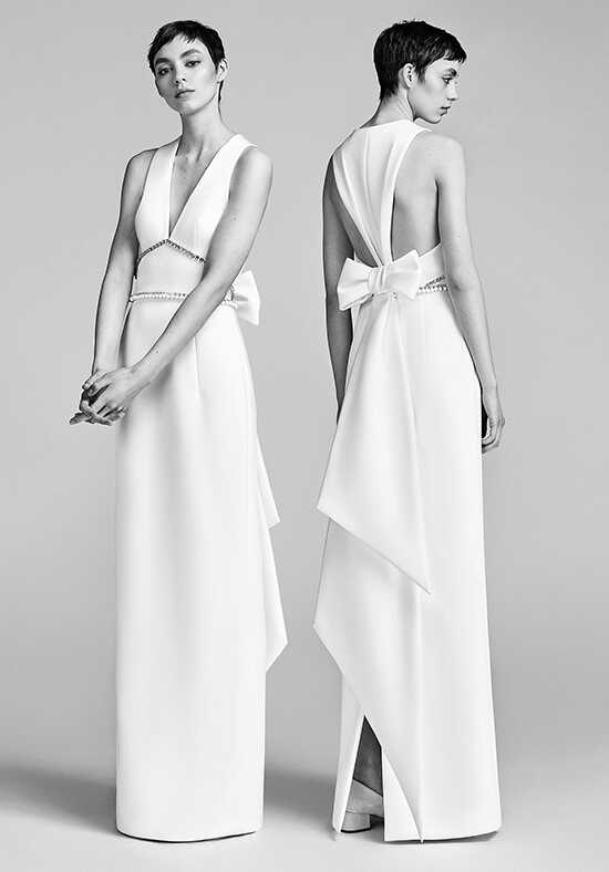 Viktor&Rolf Mariage Inverted V-Back Bow Column A-Line Wedding Dress