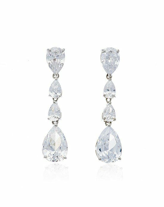 Thomas Laine Delores Linear Pear Drop Earrings Wedding Earring photo