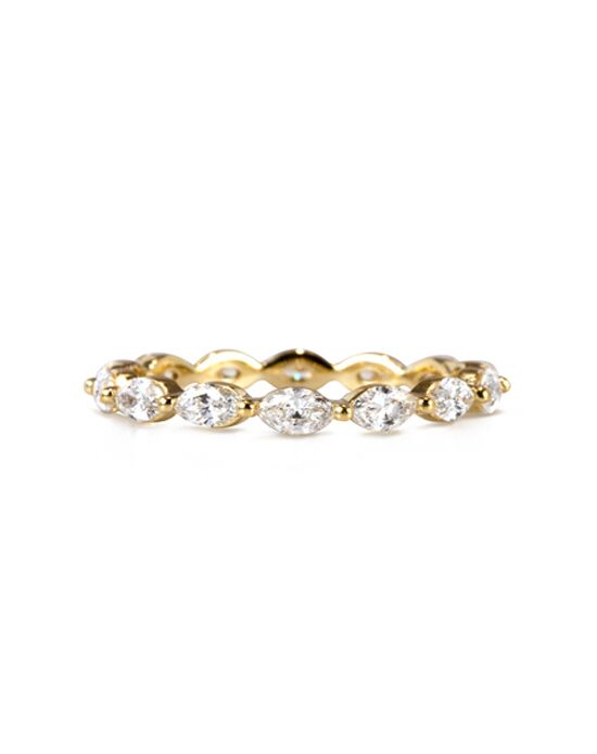 band gold eternity bar bands ring diamond set rings yellow up stand diamonds