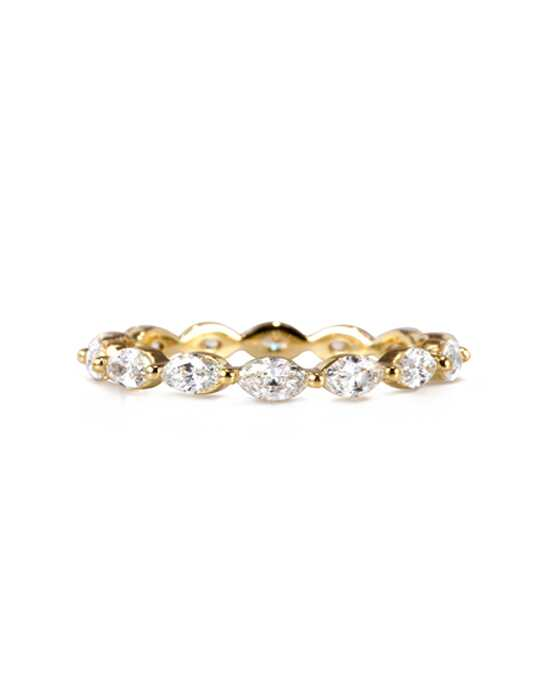 Mark Broumand 1.00ct Marquise Cut Diamond Eternity Band in 18k Yellow Gold Item # 4364-1 Gold Wedding Ring