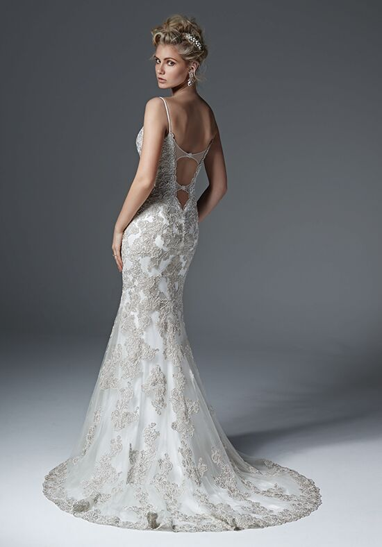 Sheath Ruffle Wedding Dress