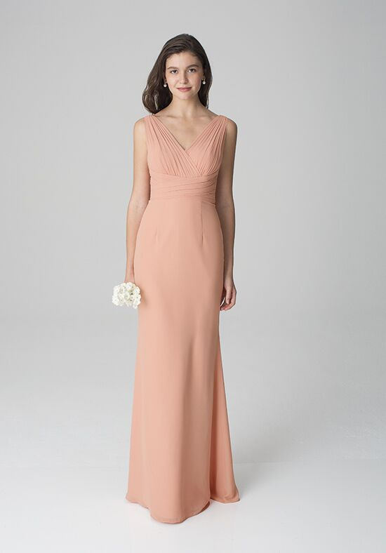 Bill Levkoff 1275 V-Neck Bridesmaid Dress