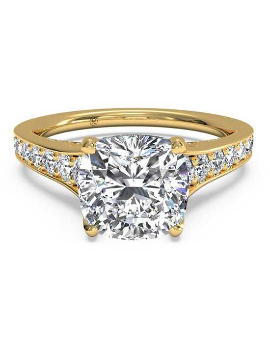 ritani tapered pav diamond band engagement ring - Elegant Wedding Rings