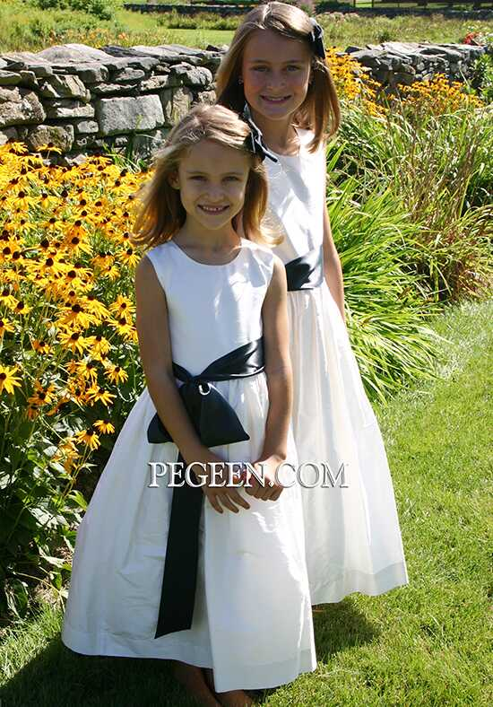 Pegeen.com 300 Ivory Flower Girl Dress